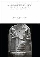 A Cultural History of Law