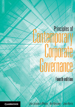 Principles of Contemporary Corporate Governnance, Fourth Edition