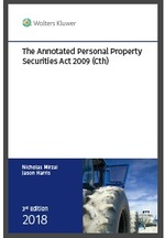 The Annotated Personal Property Securities Act, Third Edition
