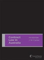 Contract Law in Australia, 7th edition