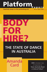 Body for Hire? the state of dance in Australia