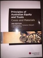 Principles of Australian Equity and Trusts: Cases and Materials - 2nd Edition