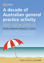 A decade of Australian general practice activity 2001-02 to 2010-11