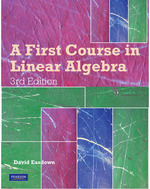 A First Course in Linear Algebra 3rd Edition