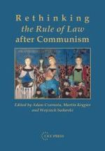 Rethinking the Rule of Law after Communism