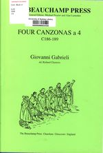Four Canzonas a 4 (C186-189)