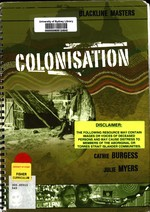 Colonisation. Blackline Masters