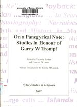On a Panegyrical Note: Studies in Honour of Garry W Trompf