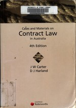 Cases and Materials on Contract Law in Australia (4th edition)