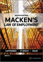 Macken's Law of Employment - 8th Edition