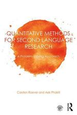Quantitative methods for second language research: