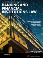 Everett and McCracken's Banking and Financial Institutions Law - 9th Edition