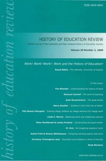 Special issue: Work! Work! Work! : Work and the History of Education