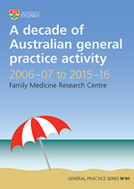 A decade of Australian general practice activity 2006-07 to 2015-16