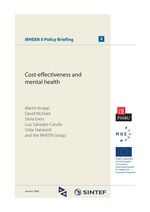 Cost-effectiveness and mental health