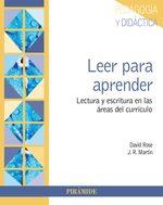 Leer para aprender: Lectura y escritura en las areas del curriculo