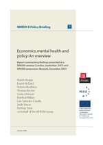 Economics, mental health and policy: An overview