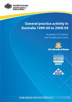 General practice activity in Australia 1999-00 to 2008-09: 10 year data tables