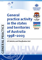 General practice activity in the states and territories of Australia 1998-2003