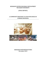 WHO Report: A Community Response to Avian Influenze in Lombok Indonesia