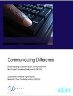 Communicating Difference: Understanding Communications Consumers from Non English Speaking Backgrounds (NESB)