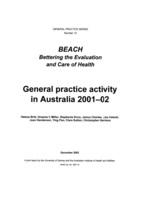 General Practice Activity in Australia 2001-02