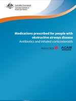 Medications prescribed for people with obstructive airways disease: Antibiotics and inhaled corticosteroids